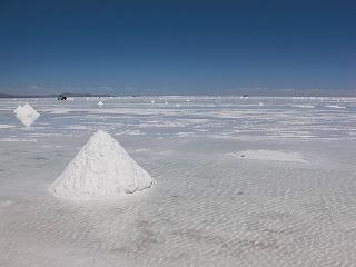 塩湖水溜り