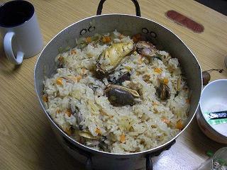 あさりムール貝の炊き込み