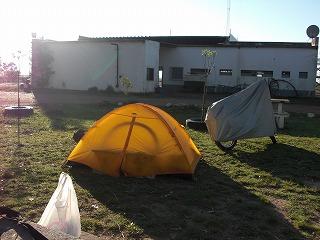 南米3度目のキャンプ